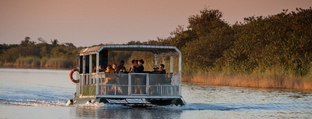 st lucia hippo & croc boat cruise