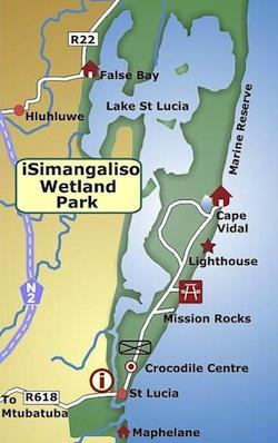 isimangoliso wetland map