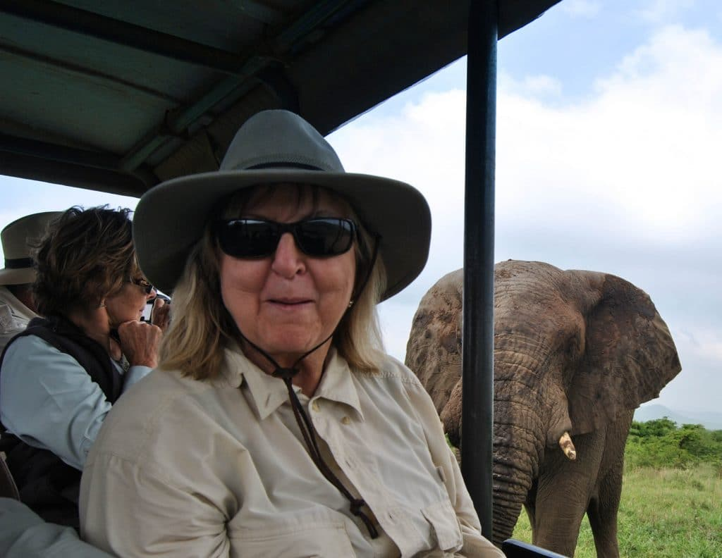 clients on safari with heritage