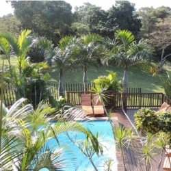 elephant coast bed & breakfast pool area