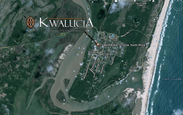 kwalucia bed & breakfast map