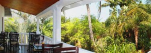 st lucia wetlands bed & breakfast balcony area