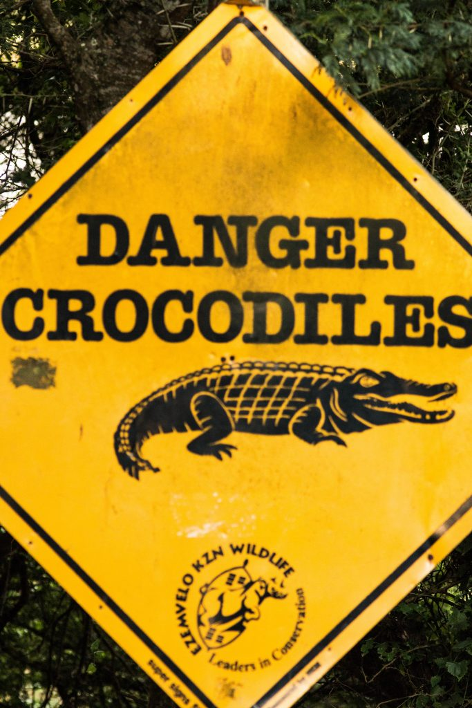 crocodile warning sign st lucia