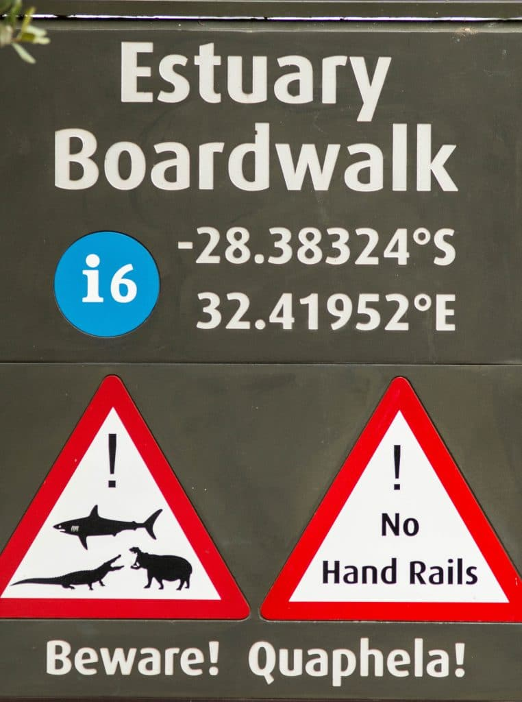 isimangaliso boardwalk sign