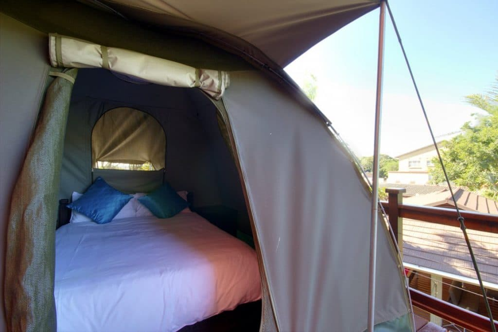 monzi dome tents double bed accommodation