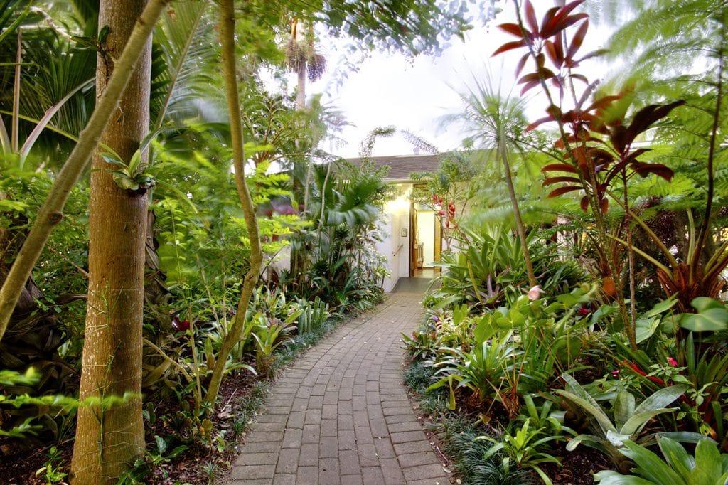 st lucia wetlands guest house outside Garden path