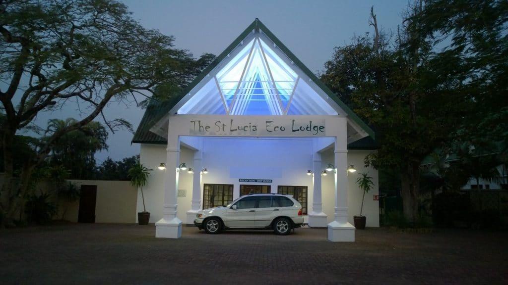 main entrance st lucia eco lodge