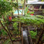 umlilo lodge garden area