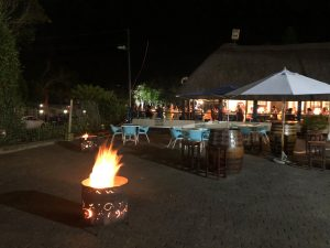 bonfire atmosphere outside restaurant st lucia