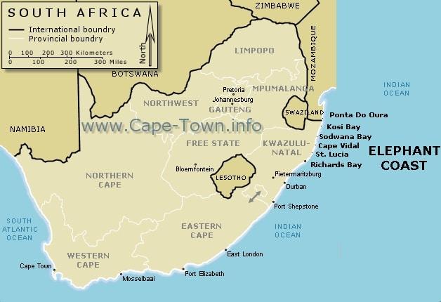 Sodwana Map